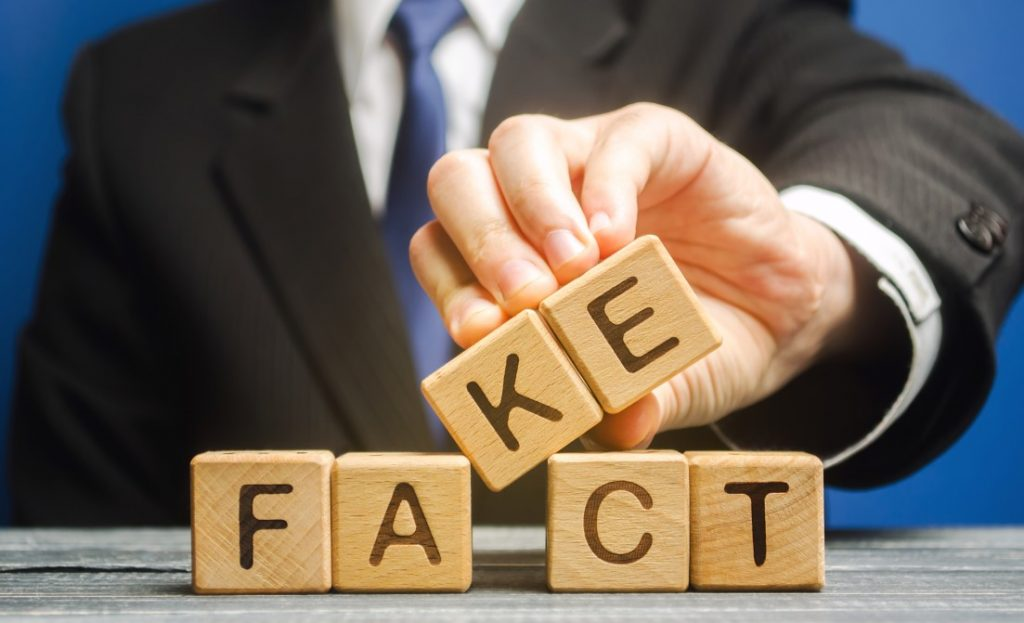 Applicant in suit changing fact with fake