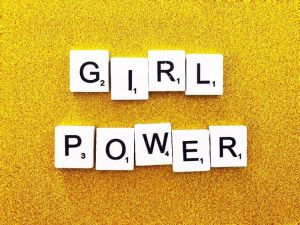 Girl power image for predominantly female jobs