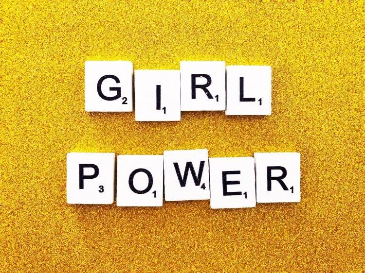 Girl power image for predominantly female jobs