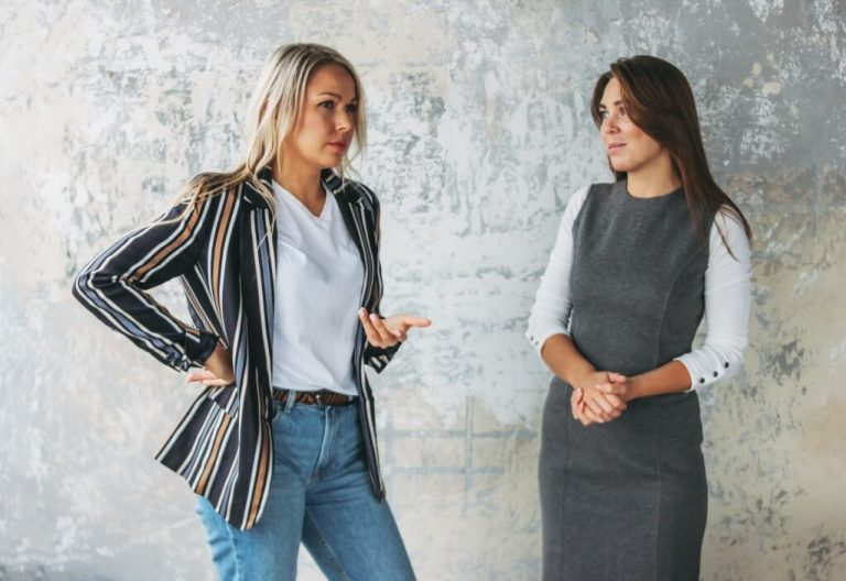 Women in a conversation about people searching for jobs