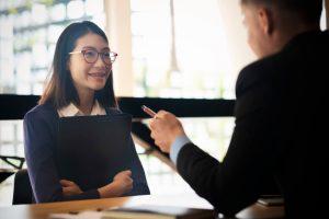 Woman whose job interviews feel awkward