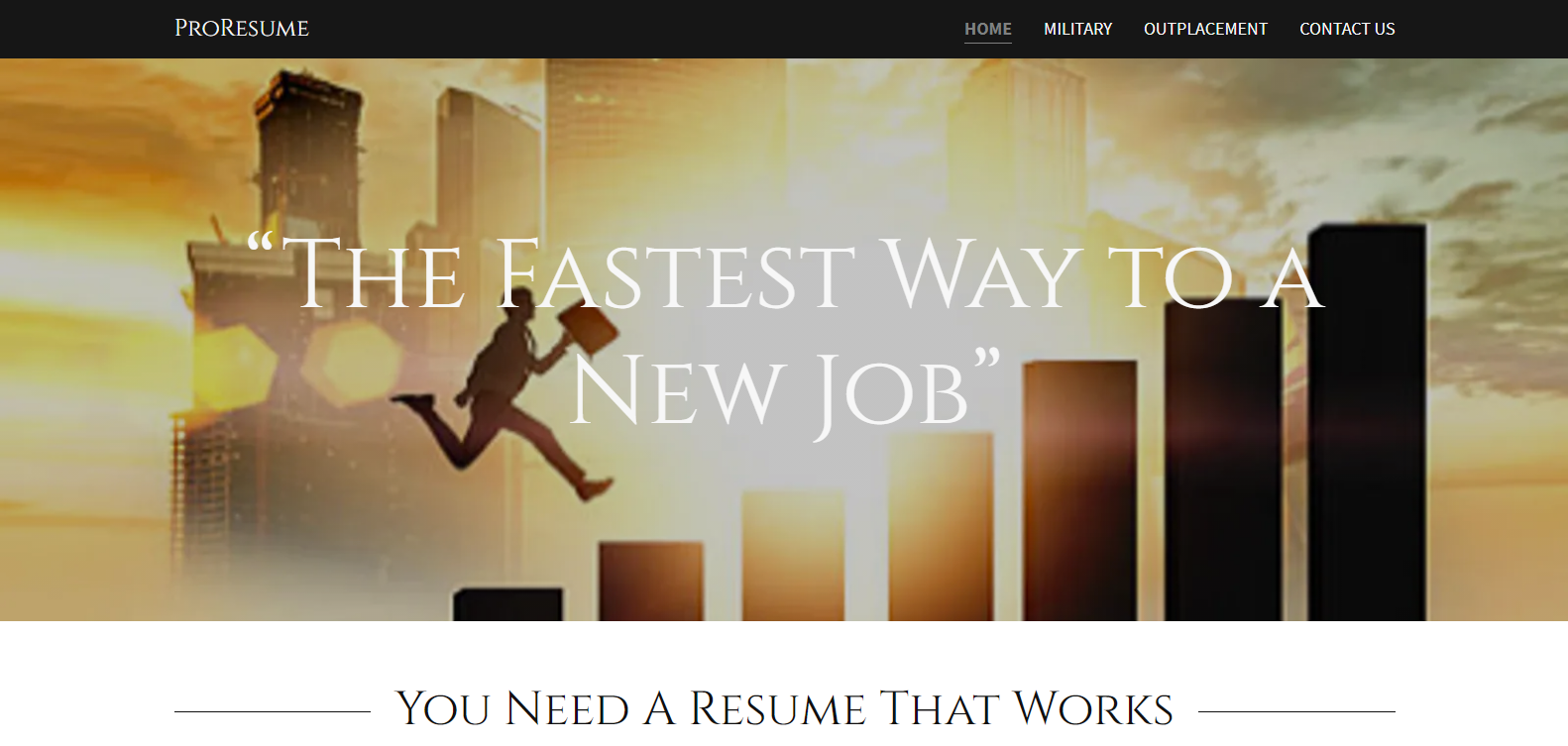 10 Best Military Resume Writing Services in 2021 – Screenshot of ProResume Homepage