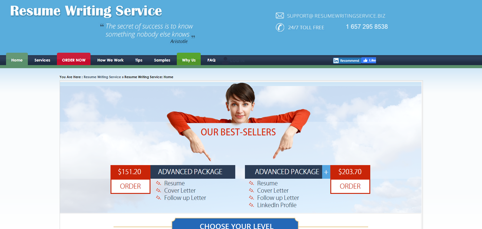 10 Best Military Resume Writing Services in 2021 – Screenshot of Resume Writing Service Homepage