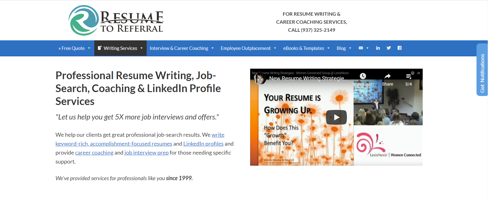 10 Best Military Resume Writing Services in 2021 – Screenshot of Resume to Referral Homepage
