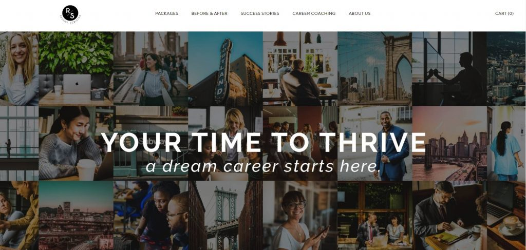 Hero section of Resume Scripter which is one of the best sales and marketing resume writing service companies