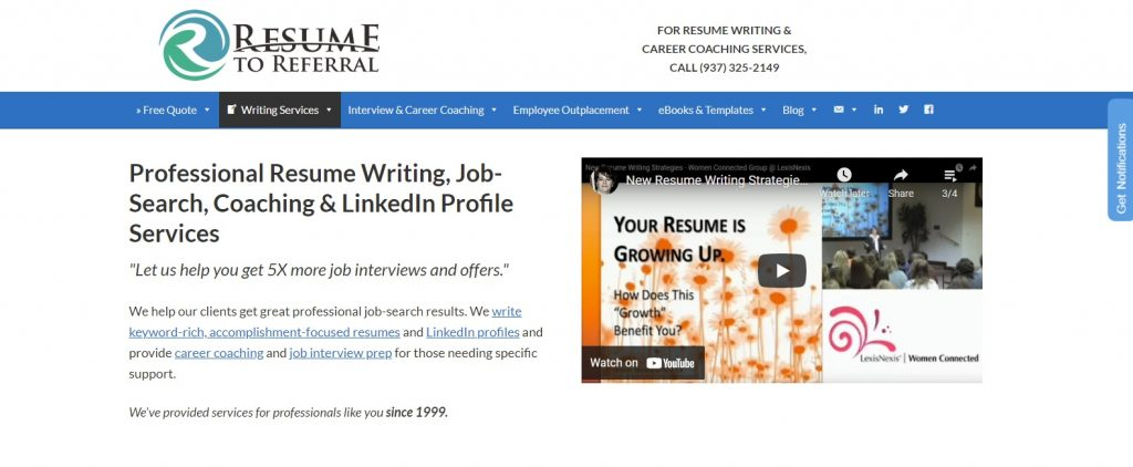 10 Best Sales and Marketing Resume Writing Service: Resume to Referral Hero Section