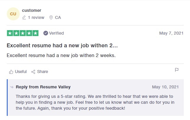 10 Best Sales and Marketing Resume Writing Services: Resume Valley Review (TrustPilot)