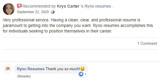 10 Best Sales and Marketing Resume Writing Services: Ryno Resumes Review (Facebook)