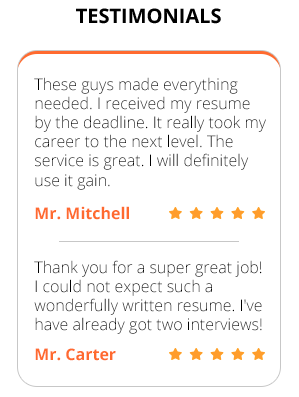 Resume Discover testimonials from clients for providing quality service