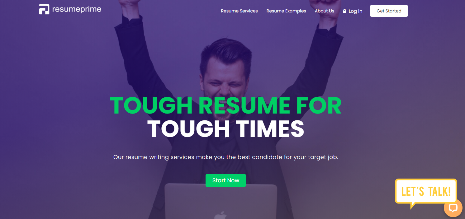 Resume Prime - Man raising his hands as he celebrates getting the best IT resume