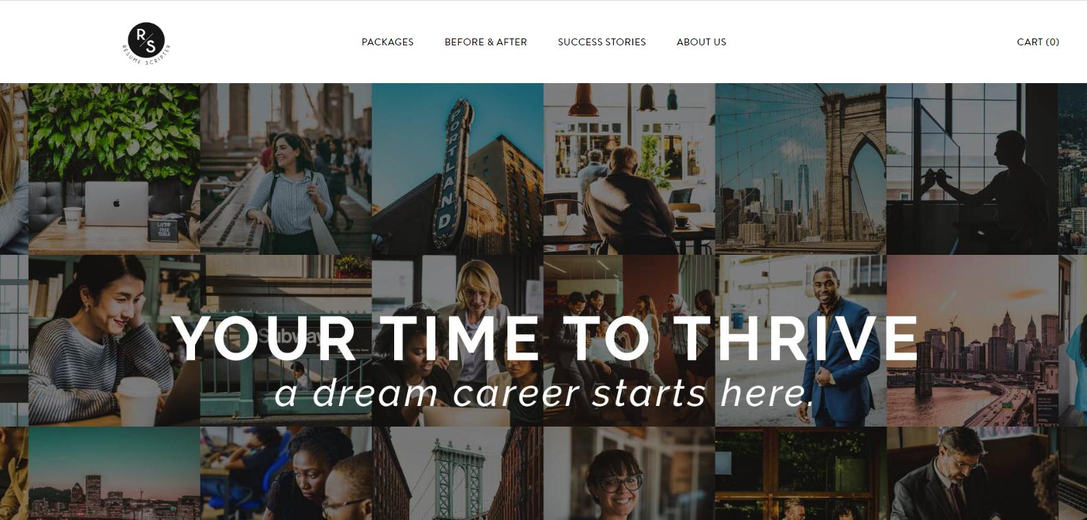 Best Sales Resume Services - Screenshot of Resume Scripter Homepage