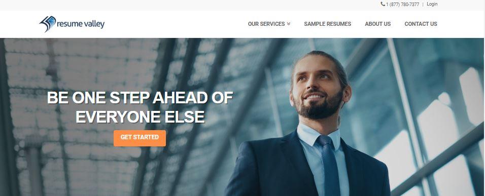 Best Resume Service in California - Screenshot of Resume Valley Homepage