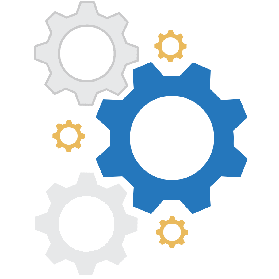 Gears vector for Best 10 about us methodology process