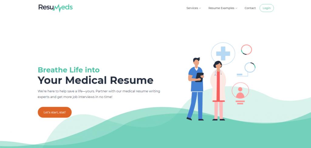 Best Medical Resume Writing Service Firm – ResuMeds Header