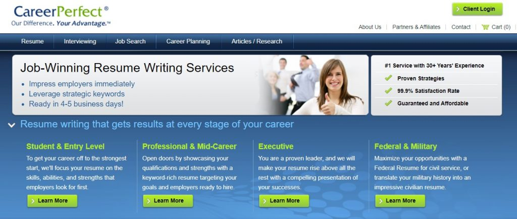 Federal Resume Writing Service in 2021 – CareerPerfect Homepage