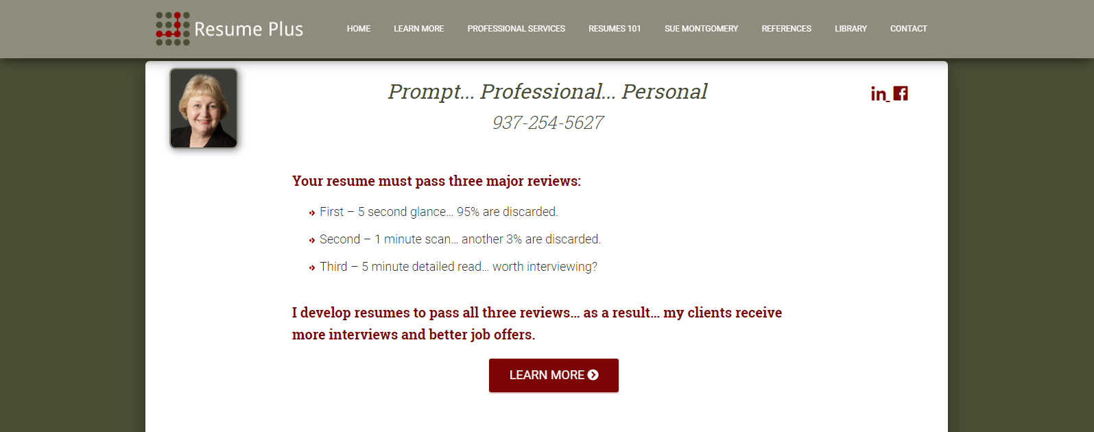 Resume writer assuring job seekers that they will get interviews after hiring top resume writing services