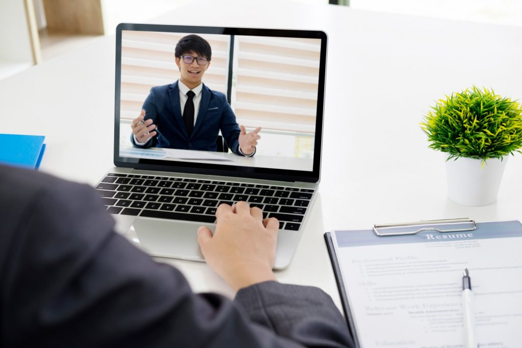 online interview coaching session