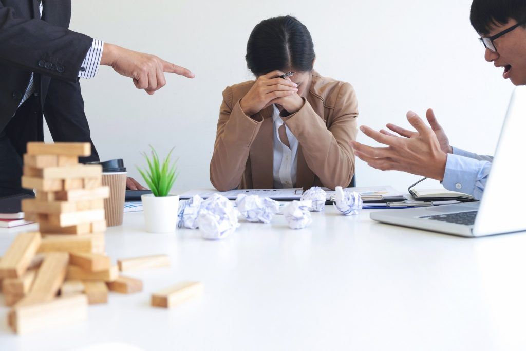 toxic workplace with demanding boss