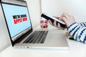 applicant preparing for online job application