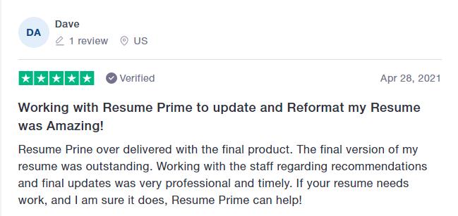 resume prime trustpilot reviews