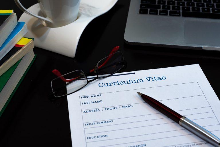CV preparation for application