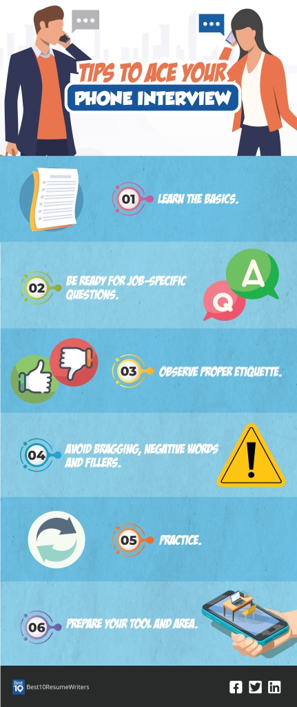 phone interview questions infographic